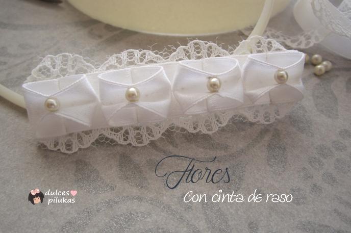 Broches Y Diademas Con Flores De Raso Handbox Craft Lovers - Como-se-hacen-diademas