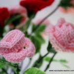 Flores de Crochet - Rosas de Pitiminí de ganchillo
