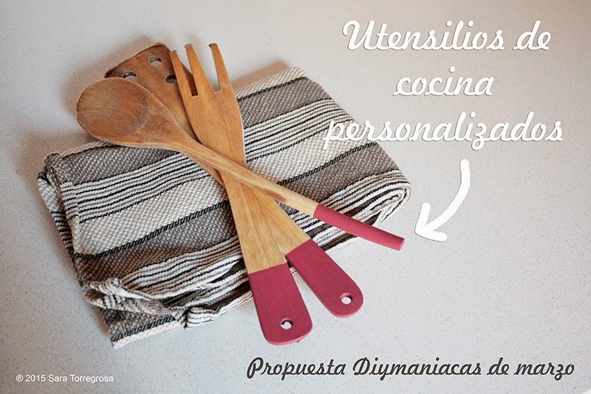 El Pegotiblog - Decorar utensilios de madera con pintura