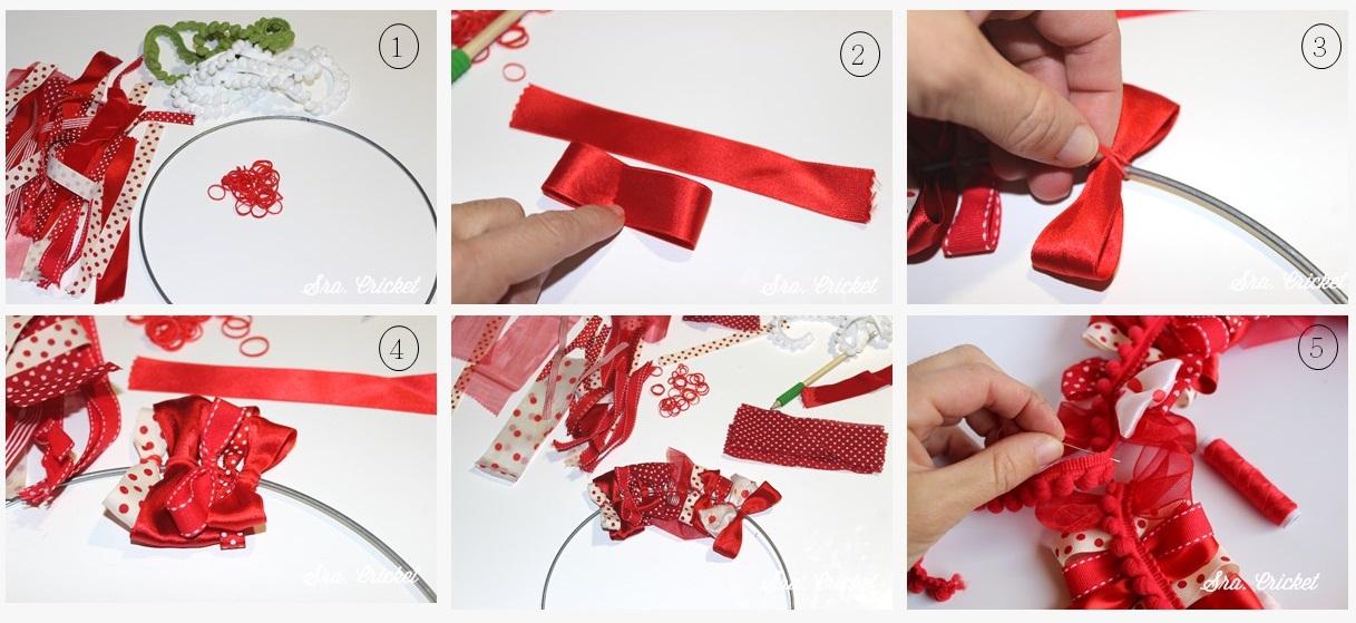 tutorial corona navidad lazos