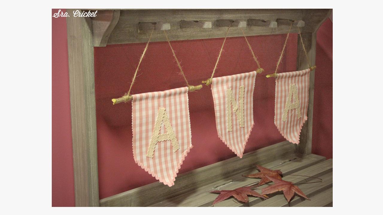 tutorial banderines de tela