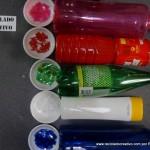 Traje de fallera valenciana con material reciclado (288)