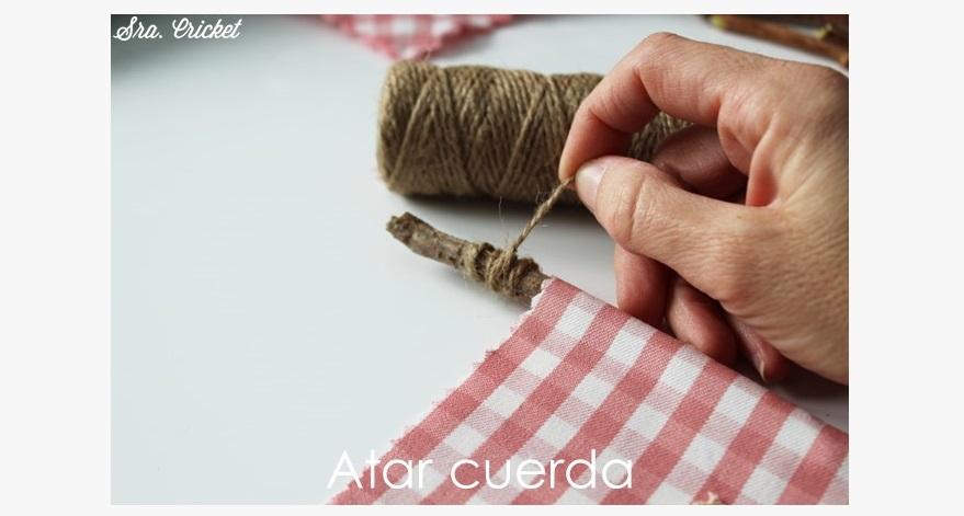 colocar cuerda en palo de banderin