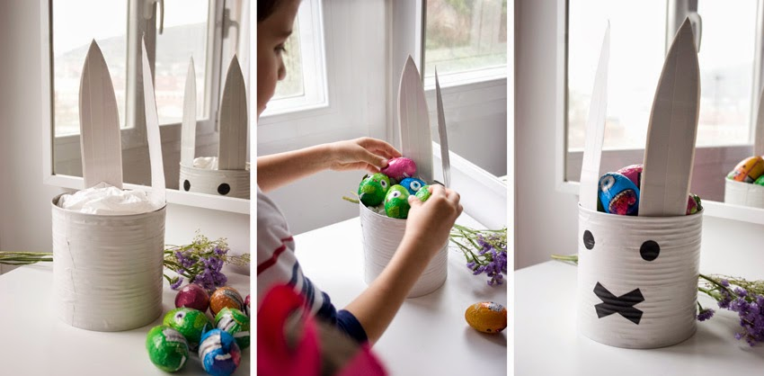 Taller de creactividad: Diy conejo para lo huevos de Pascua en una lata6