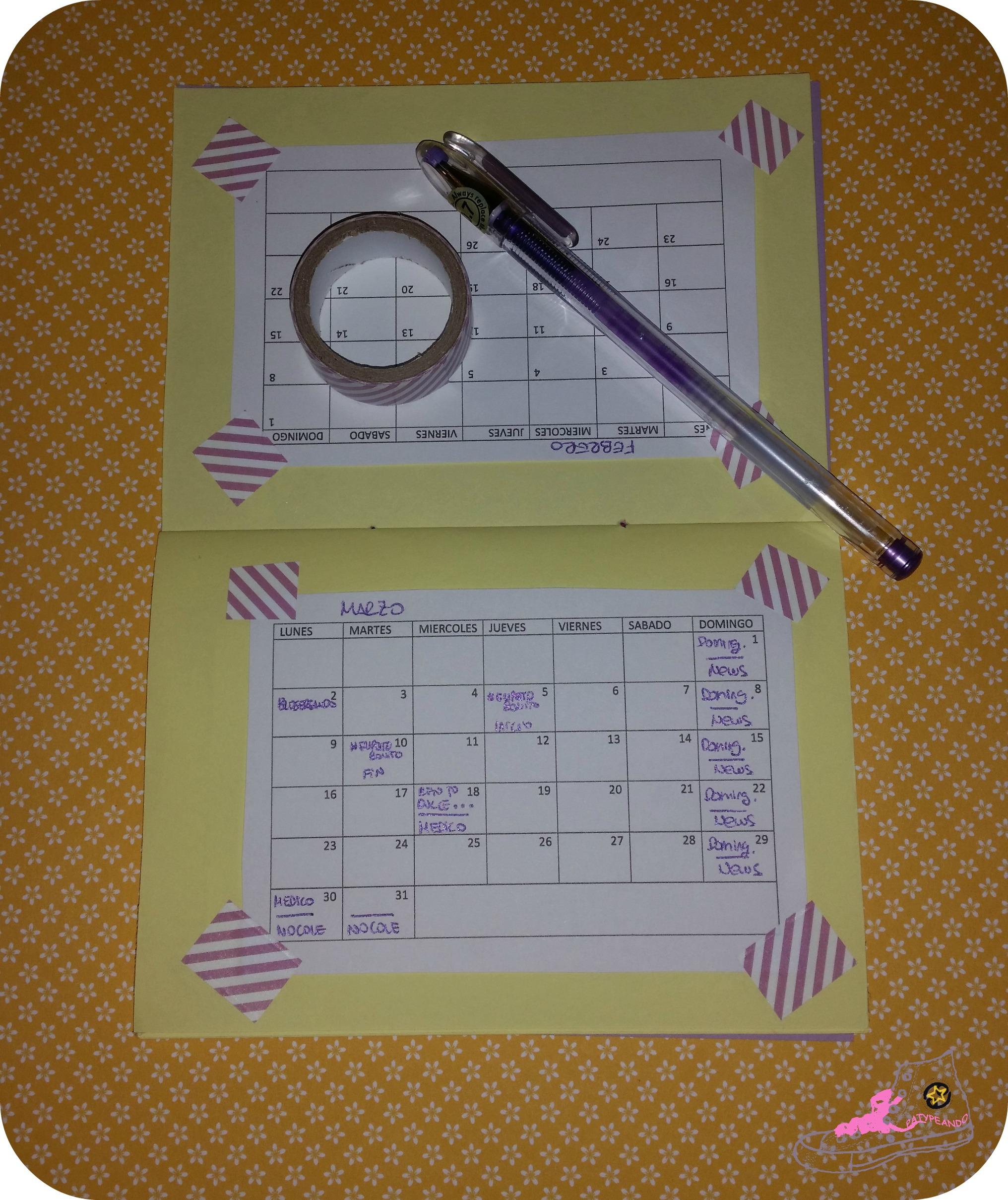 mini agenda lila