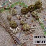 Aderezo y peinetas de fallera con material reciclado (1)