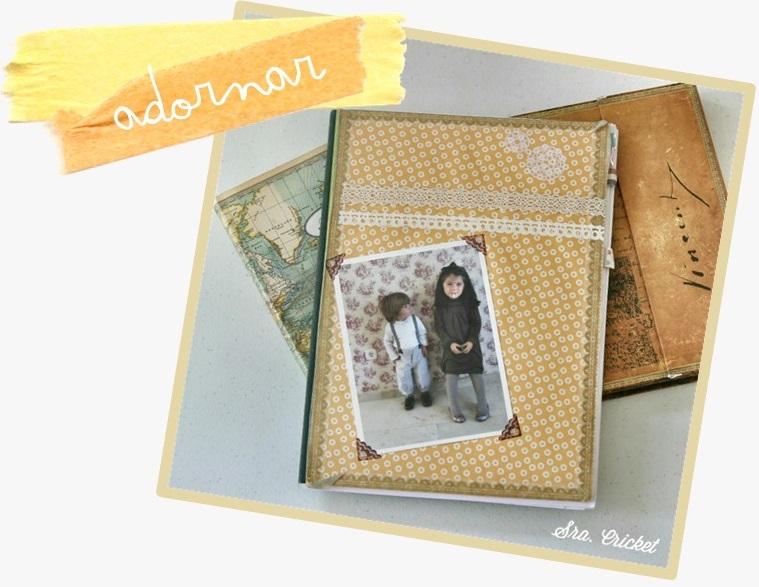 decorar cuadernos con washitape