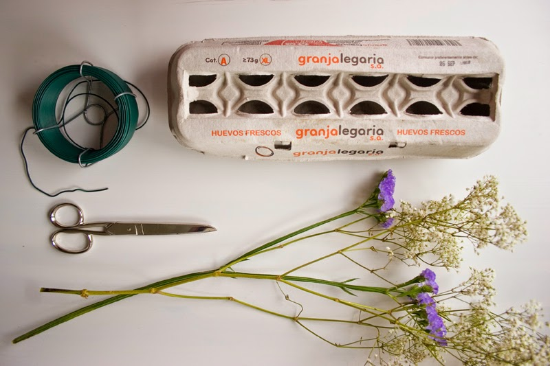 DiariodecoSpring: Diy flores con hueveras de cartón2