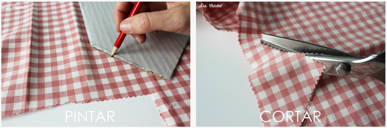 pintar y cortar tela