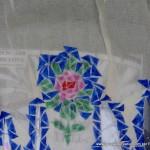 Traje de fallera valenciana con material reciclado (254)