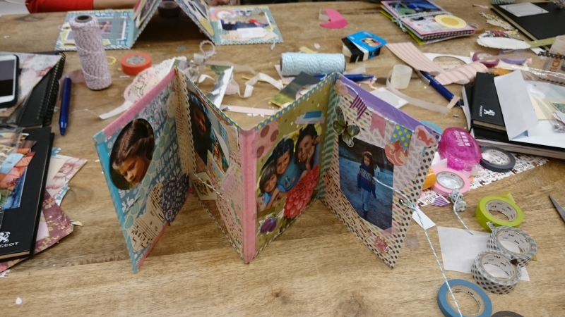 album de fotos DIY con washi tape