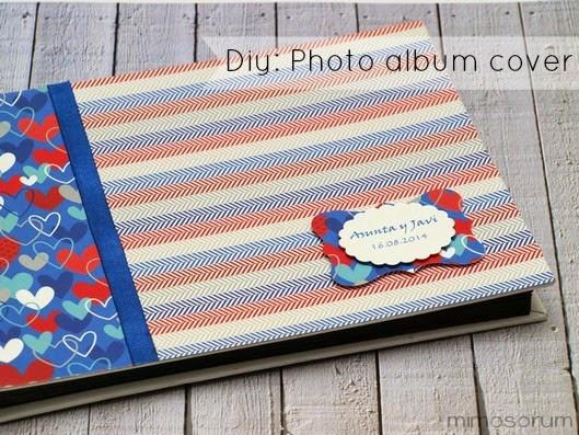 Cómo forrar un álbum de fotos con papel. Diy: photo album cover