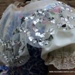 Traje de fallera valenciana con material reciclado (424)