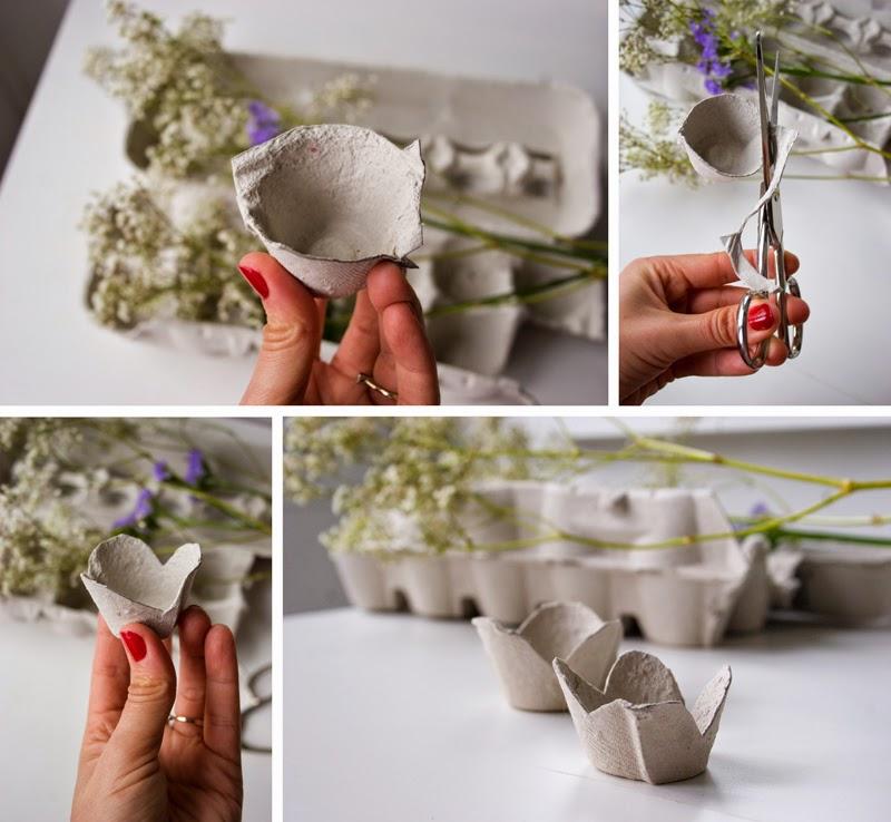 Diy flores con hueveras de cartón3