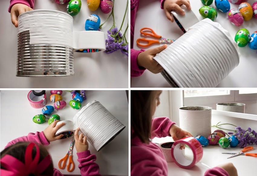 Taller de creactividad: Diy conejo para lo huevos de Pascua en una lata3
