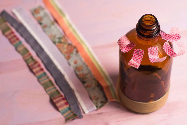 preparar washi portafotos botella pangala