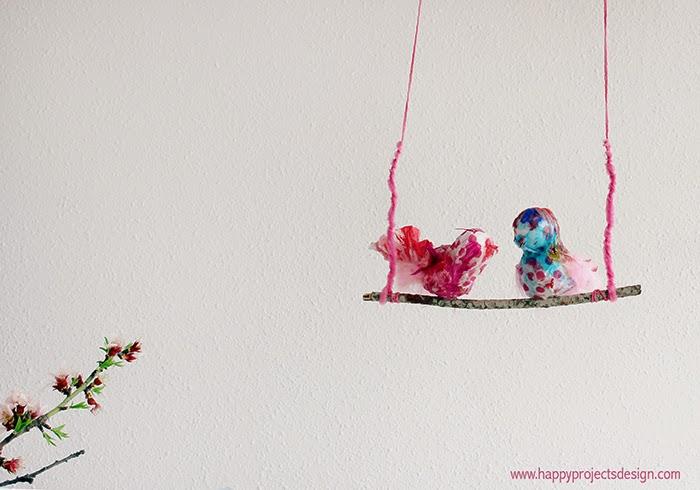 DIY pájaros de pascua