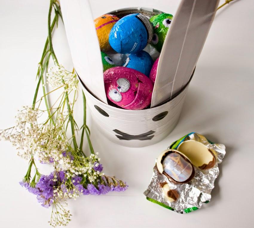 Taller de creactividad: Diy conejo para lo huevos de Pascua en una lata12