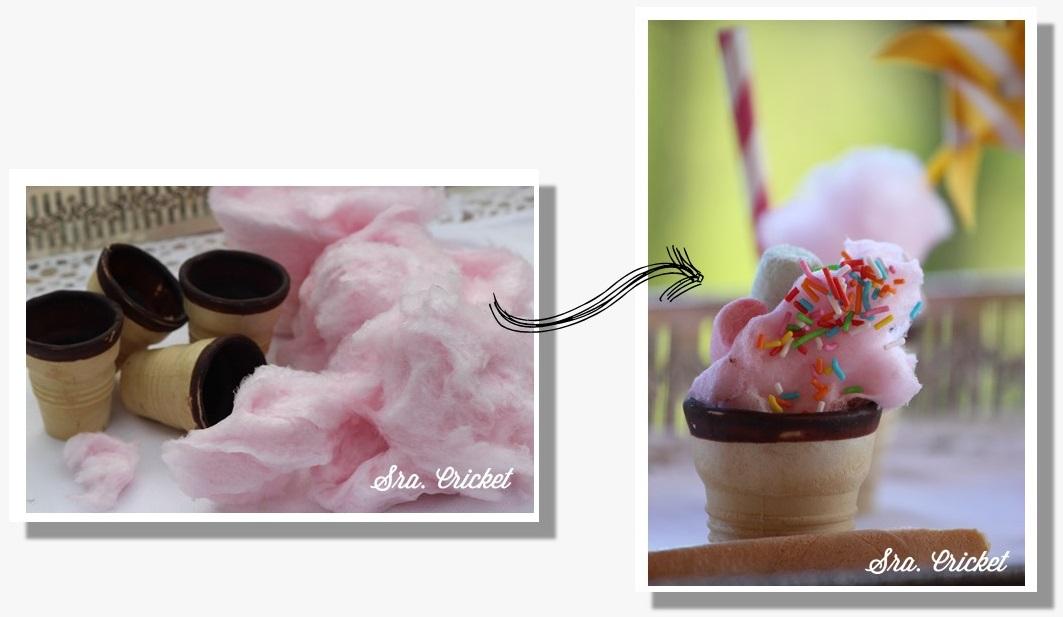conos y algodon de azucar