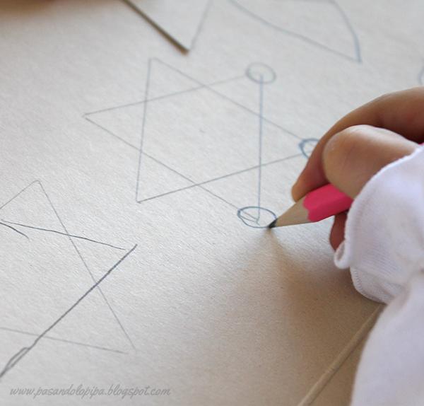pasandolopipa | dibujar círculos en los estremos de la estrella