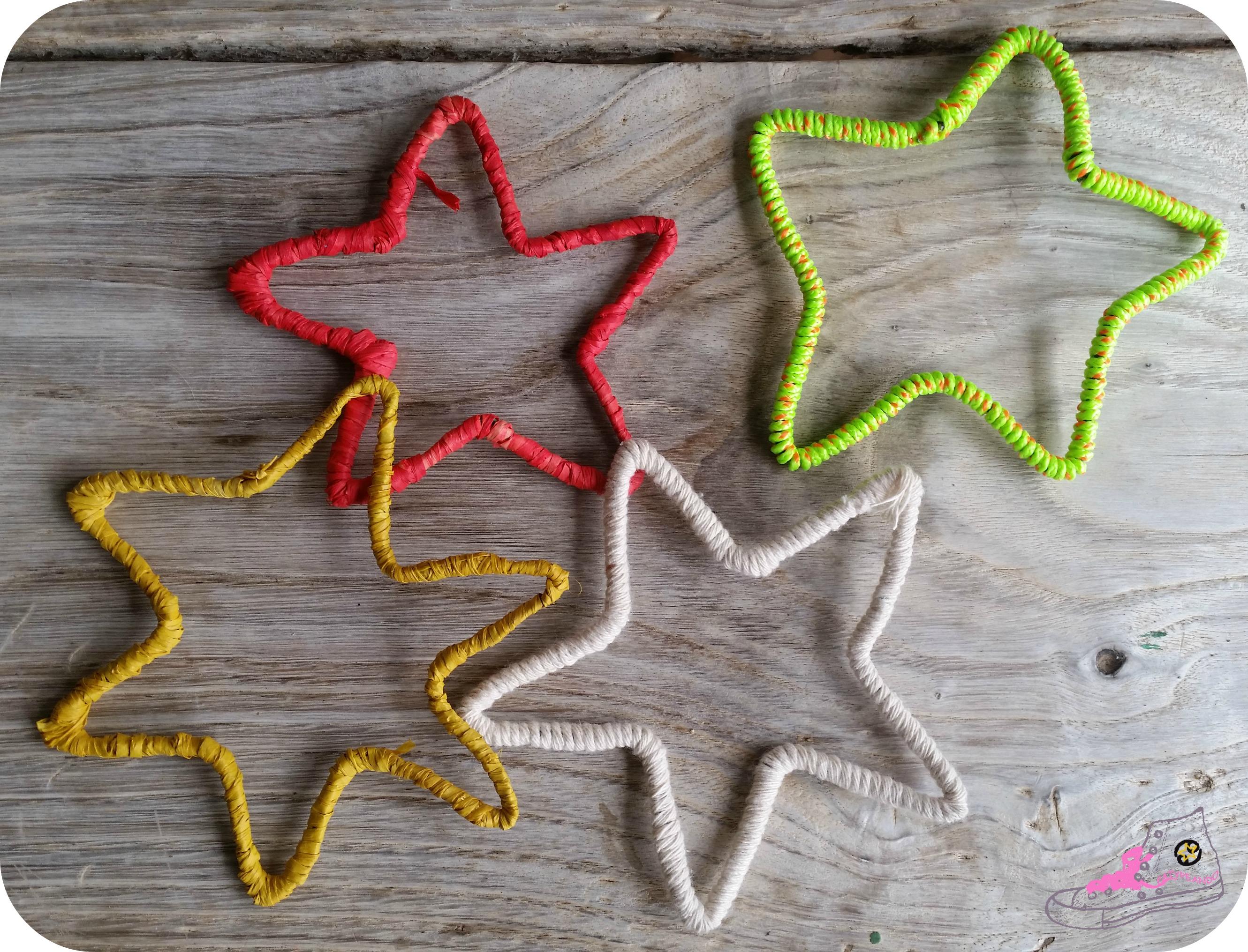 estrellas con alambre