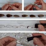Cómo hacer perlas con cáscaras de pipas de girasol