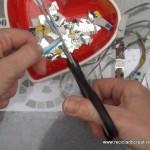 Manteleta de fallera valenciana siglo XXI con material reciclado