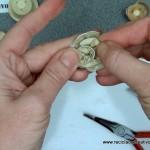 Flores realizadas con cápsulas de café recicladas