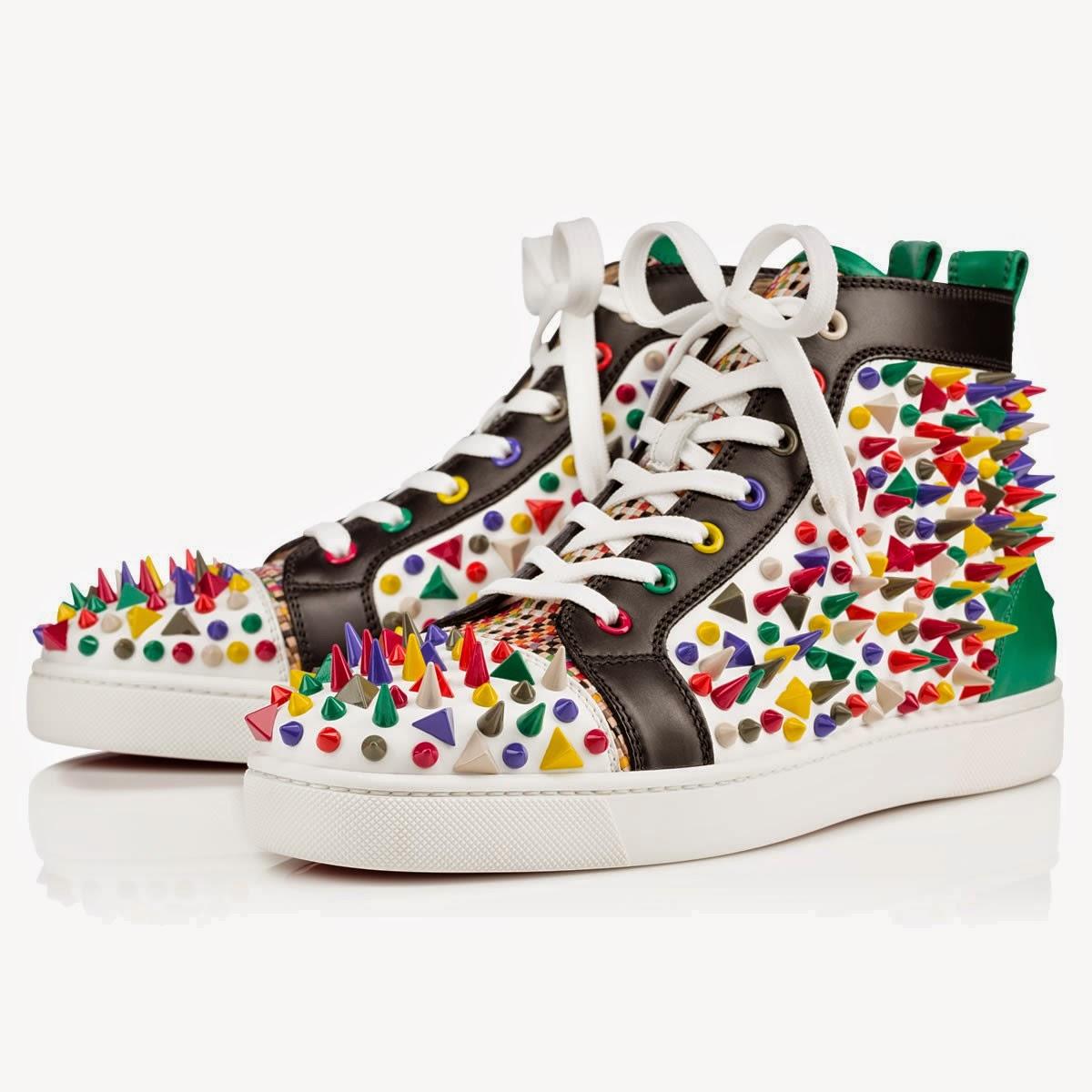 DIY-zapatillas-tunear-customizar-CHRISTIAN-LOUBOUTIN-zapatos-pinchos-esmaltes-pinta uñas-colores-2015