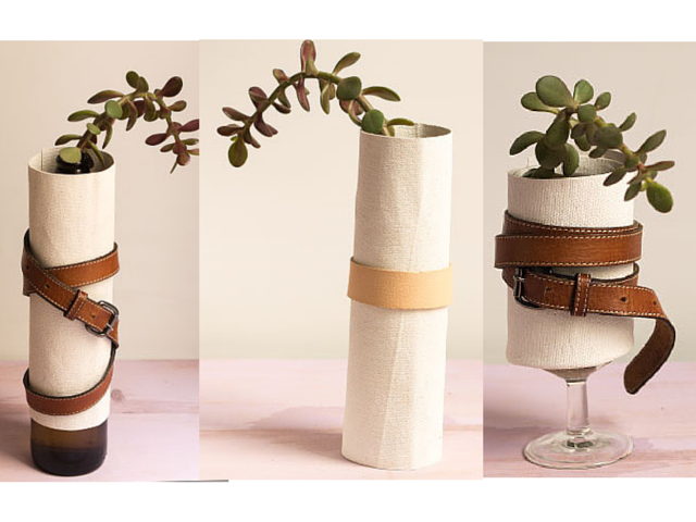 diy para convertir recipientes en floreros