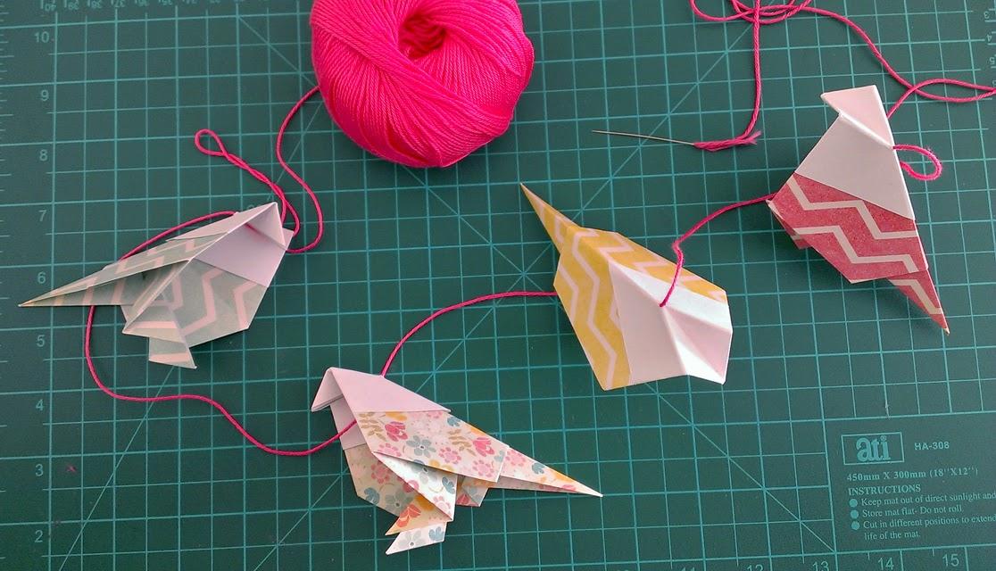 origami paper birds diy
