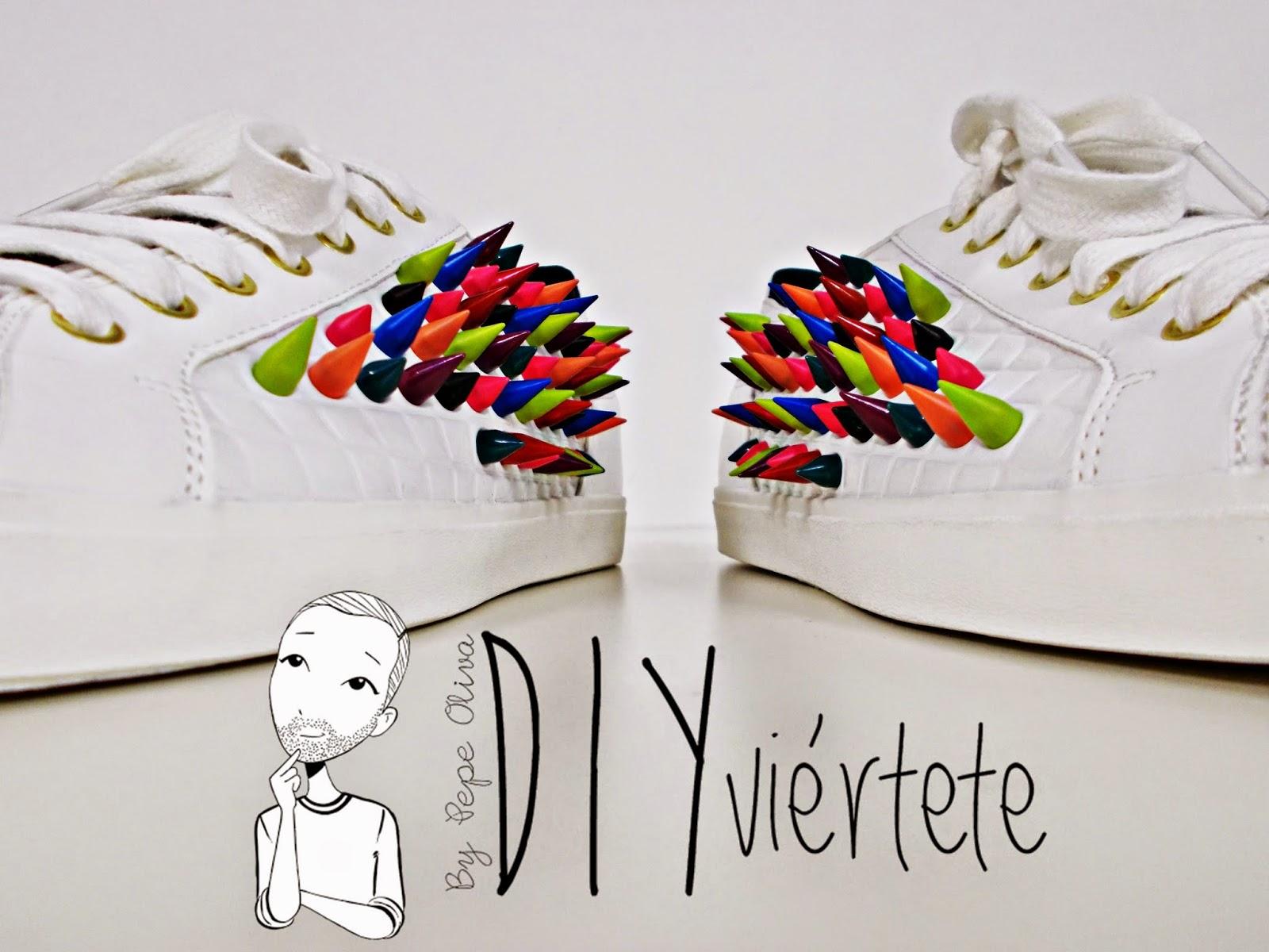DIY-zapatillas-tunear-customizar-CHRISTIAN-LOUBOUTIN-zapatos-pinchos-esmaltes-pinta uñas-colores-13