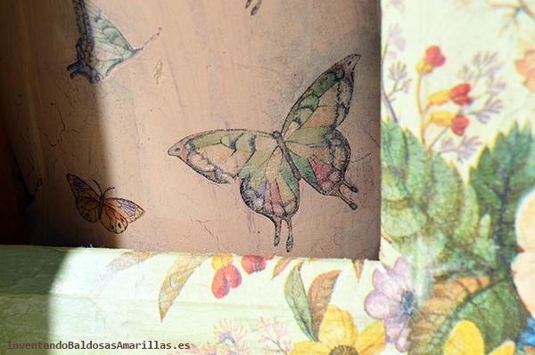 Servilletas vintage de mariposas