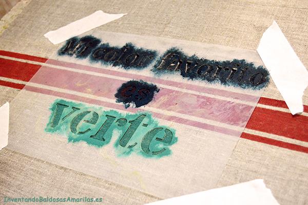 C mo pintar en tela handbox - Plantillas de letras para pintar paredes ...
