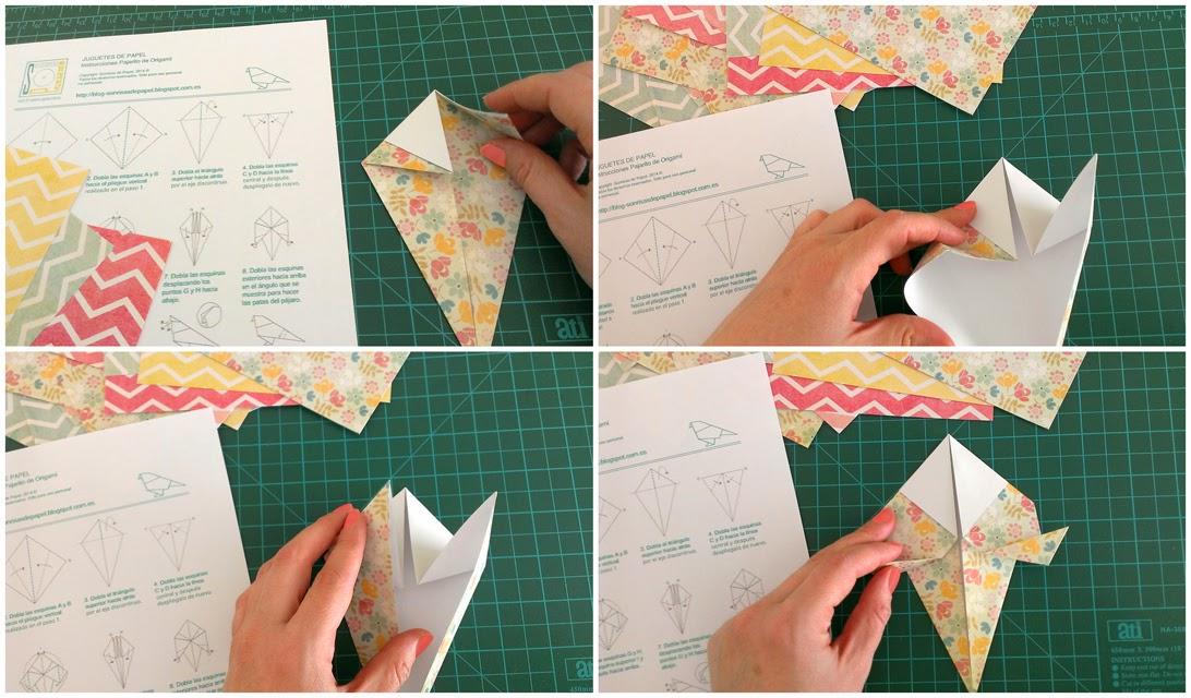 origami birds diy