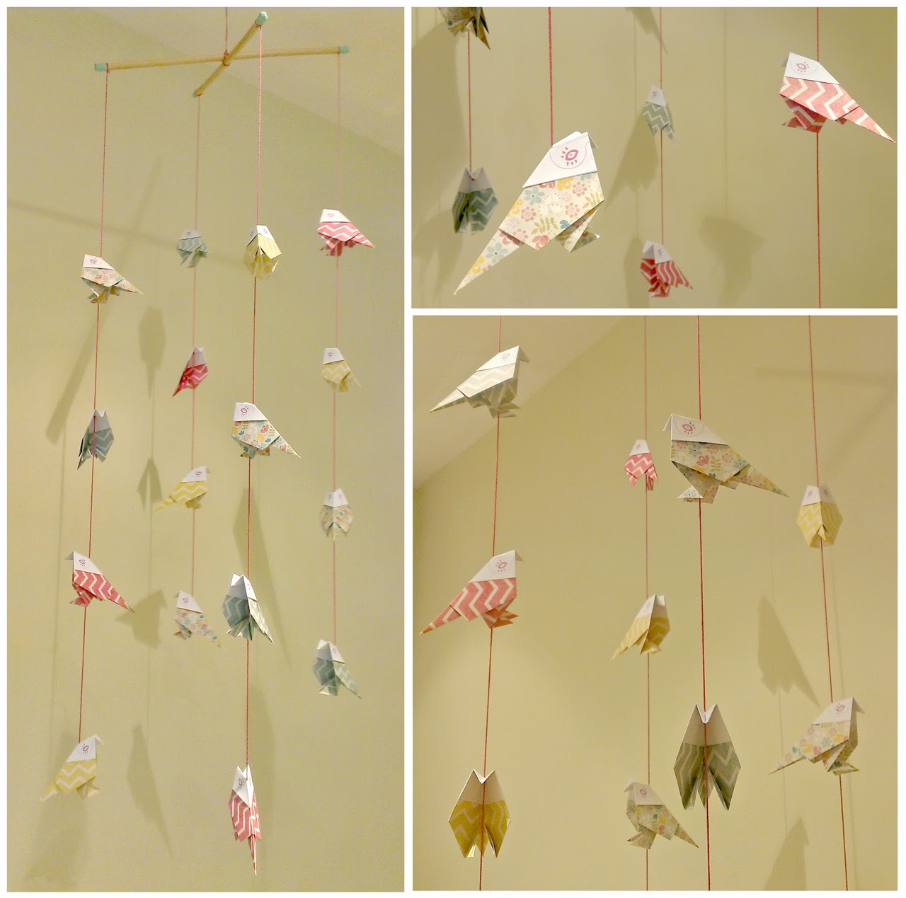 paper mobile birds