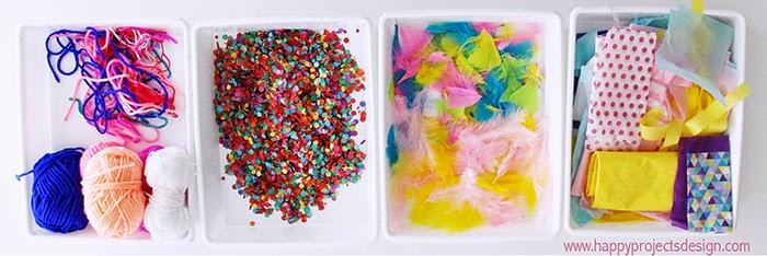 Nidos de Pascua DIY: materiales