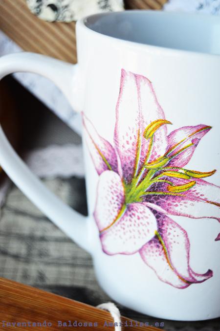 como decorar tazas con servilletas