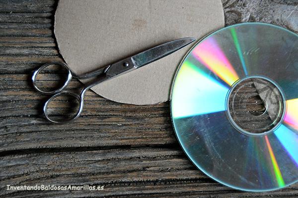 reciclar cd para decorar