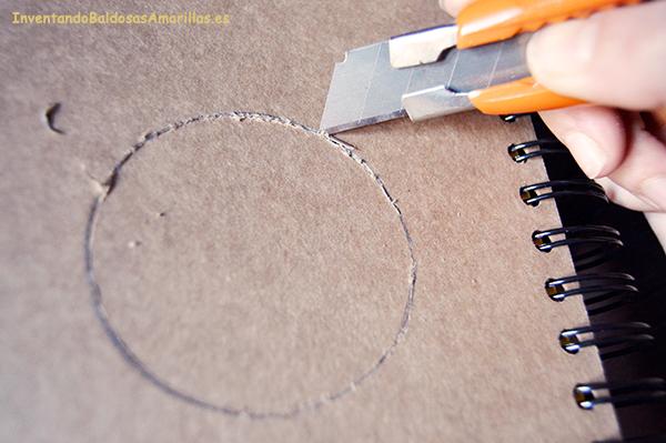 cortar cartón