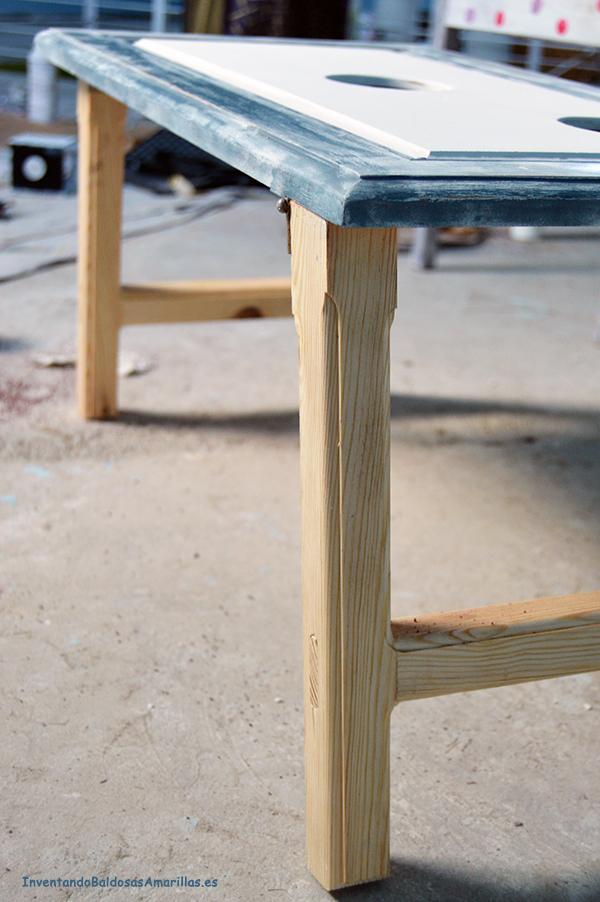Patas de madera de pino torneadas