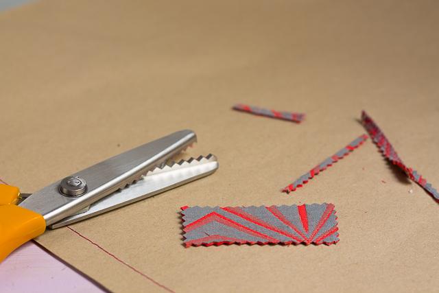 cortar retal de tela envoltorio pangala