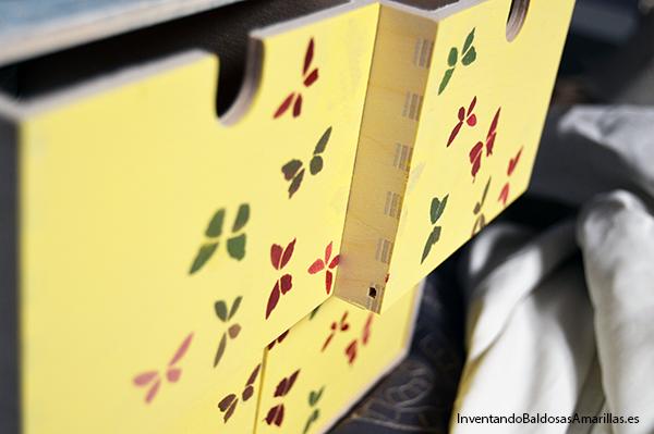 Mariposas de colores para decorar cajones