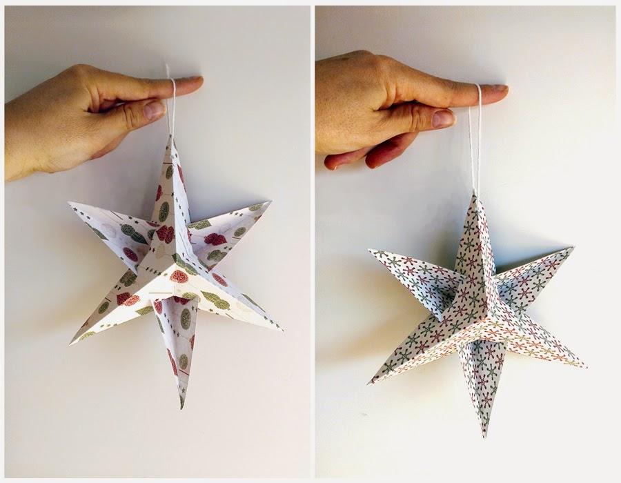 DIY Estrellas de papel Adornos navideos Handbox Craft Lovers