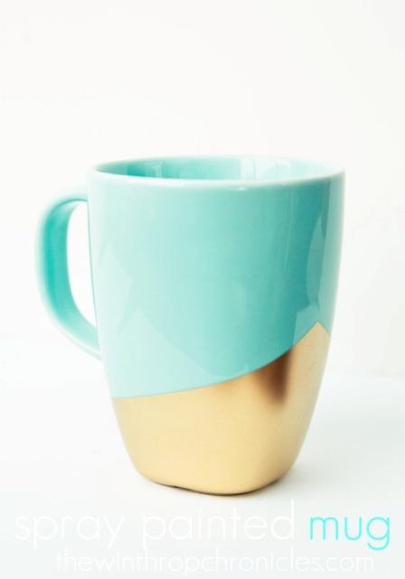 taza con oro