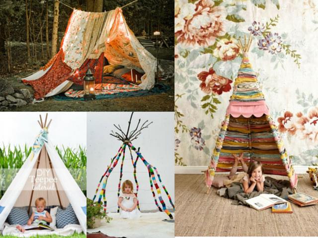 Cómo hacer un tipi o tienda de campaña para niños nómadas - Handbox ...
