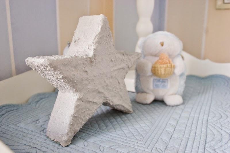 Diy estrella de cemento con espuma floral | DEF Deco - Decorar en familia4