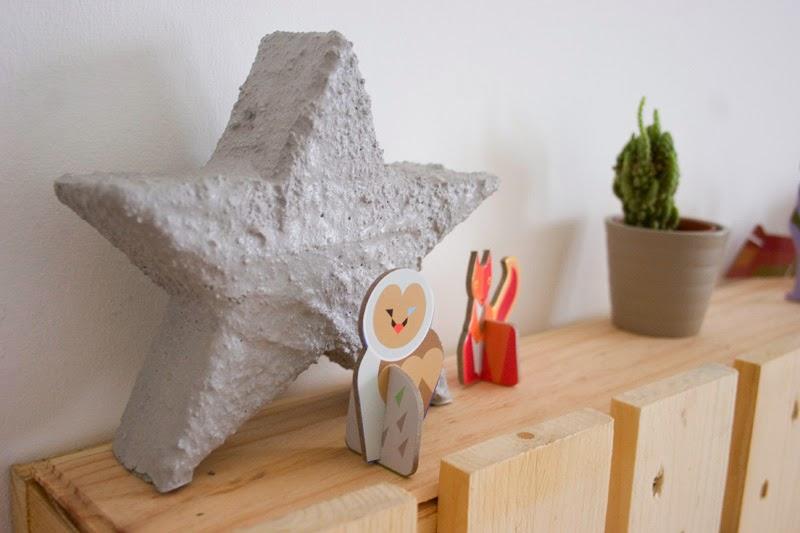 Diy estrella de cemento con espuma floral | DEF Deco - Decorar en familia1