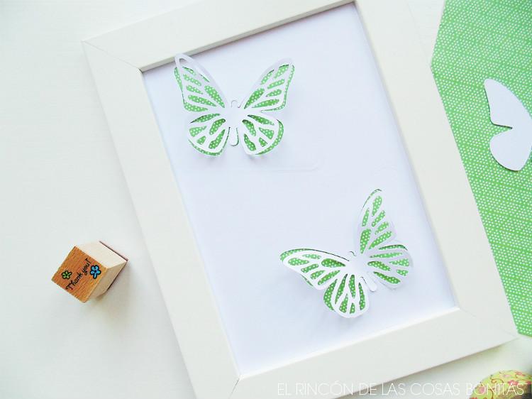 Cuadro con mariposas en relieve - Handbox Craft Lovers | Comunidad ...