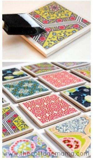 6 azulejos decoupage